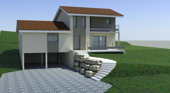 Maison neuve ambronay myl architectures for Terrain et maison neuve